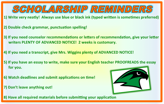 scholarship  financial aid tips  staley high school counseling top twelve tips on winning a scholarship from fastwebcom